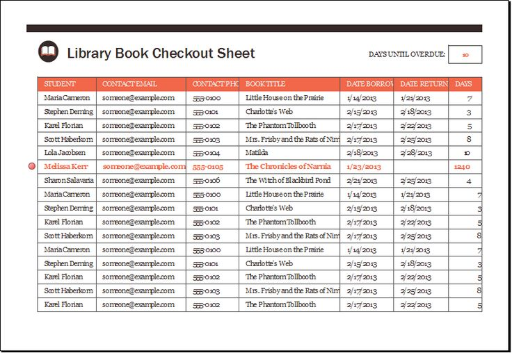 Library Book Checkout Sheet DOWNLOAD at    wwwxltemplatesorg - restaurant inventory template
