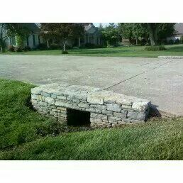 Drive Way Rock Culvert My Stone Masonry Work By Me