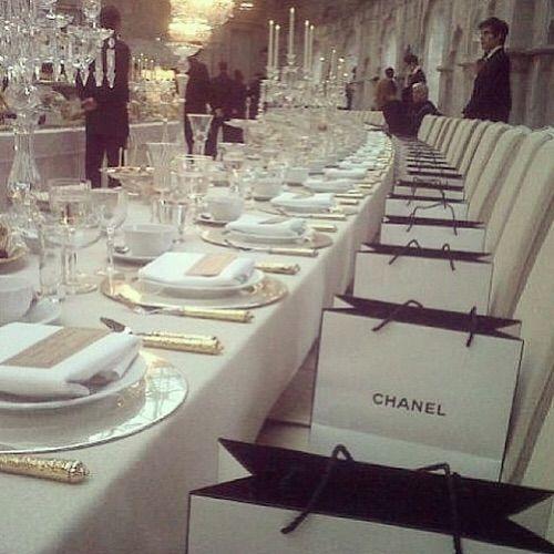 Image via We Heart It #chanel #dinner #fashion #food #gift #girly #luxury #style #richkids