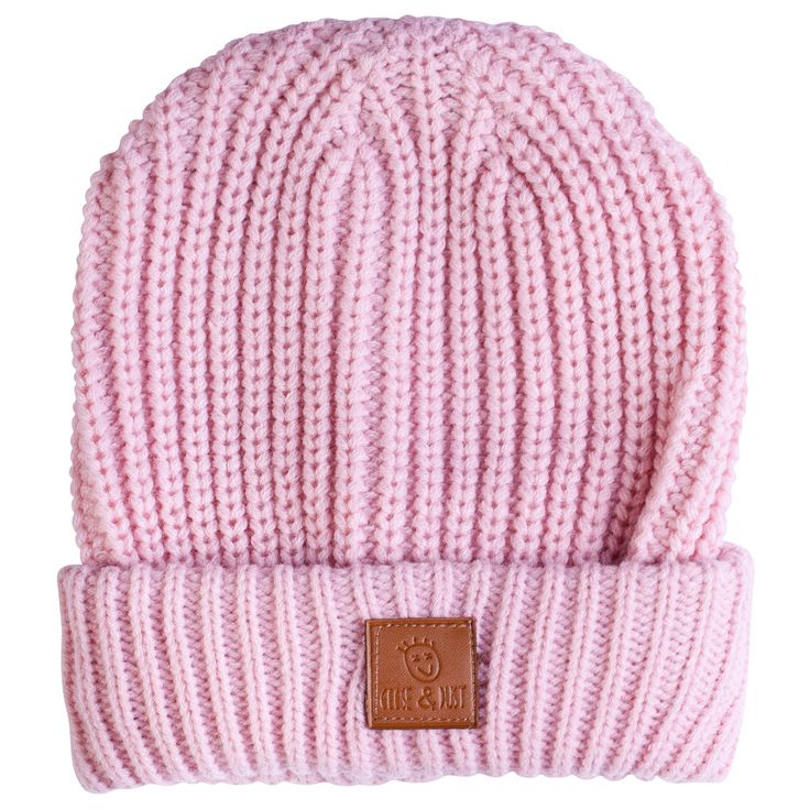 Kids winter fashion Dusty Pink Whaked Beanie