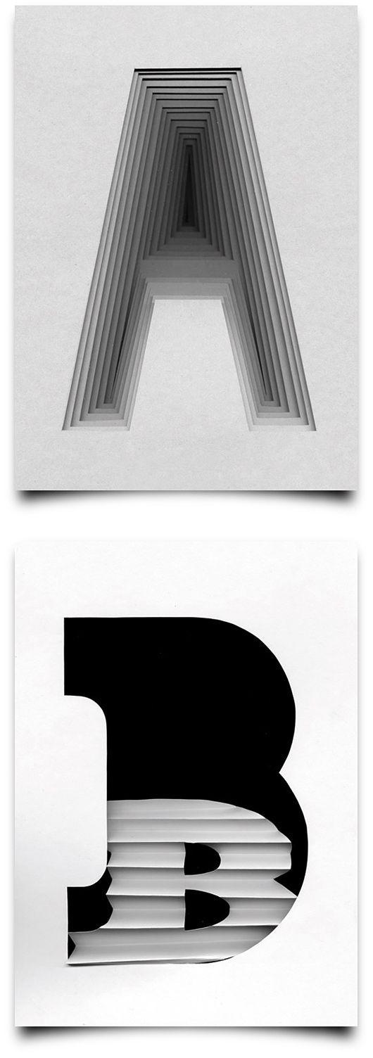 Type Scan Alphabet by Tony Ziebetzki