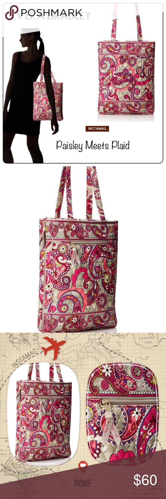 Vera Bradley Computer Laptop Tote Vera Bradley  Travel Laptop Tote  Paisley Meets Plaid *retired* 