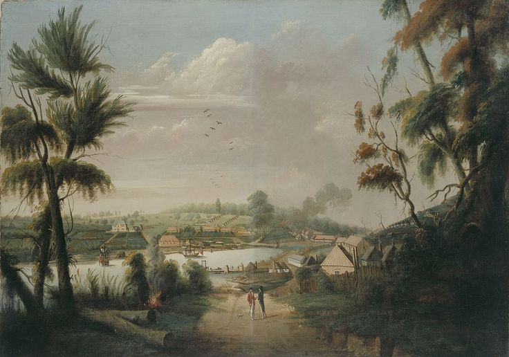 A Direct North General View of Sydney Cove, by convict artist ThomasWatling in 1794