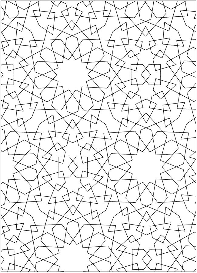 Creative Haven Arabic Patterns Coloring Book Dover Publications Samples