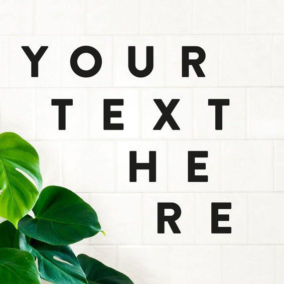 Alphabet Buchstaben Aufkleber / Vinyl Aufkleber Brief / personalisierte Kachel Aufkleber / Custom Home Dekor / Wand-Spruch / Office Dekor / Badezimmer Dekor