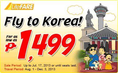 Cheap flight to Korea