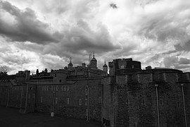 Torre De Londres, Castillo, Cielo, Gris