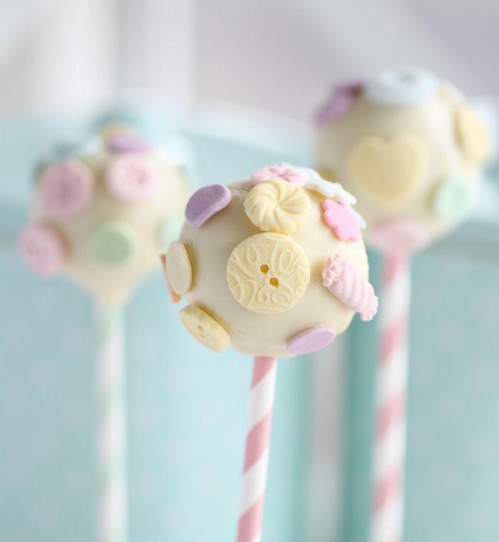 cute as a button cake pops