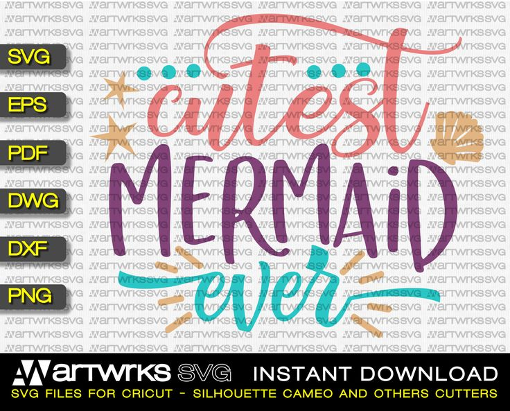 Sea shells mermaid SVG files for Cricut and Silhouette