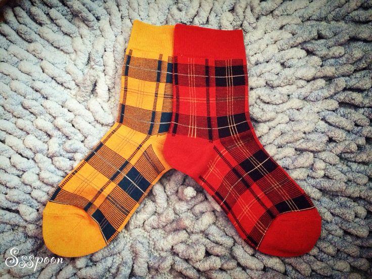 Check pattern socks for Autumn!!