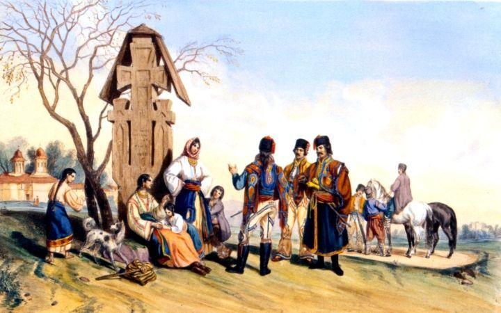 Costume din Valahia - colorate