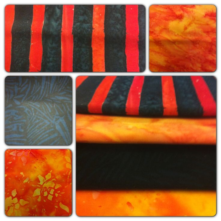 Repin for a chance to win our Nov 1 #FlareFabricsTGIF giveaway - 4 orange and black #batik FQs. Head over to facebook.com/flarefabrics for more chances. Winner announced Monday