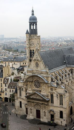 Paris, The Pantheon - St Etienne du Mont Church from the dome