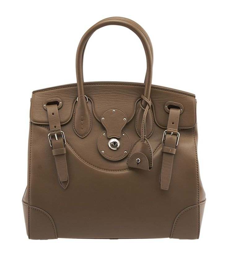 Pre-Owned Ralph Lauren Soft Ricky Brown Nappa Leather Satchel $1,495