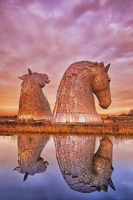 Les Kelpies à Falkirk en Écosse
