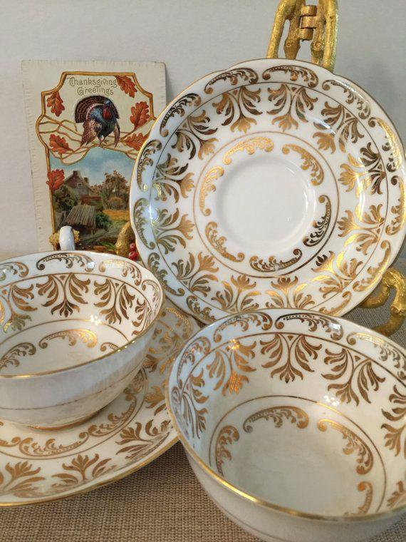 Vintage Tea Cups  Bone China  Set of 2  Royal by PineStreetPickers