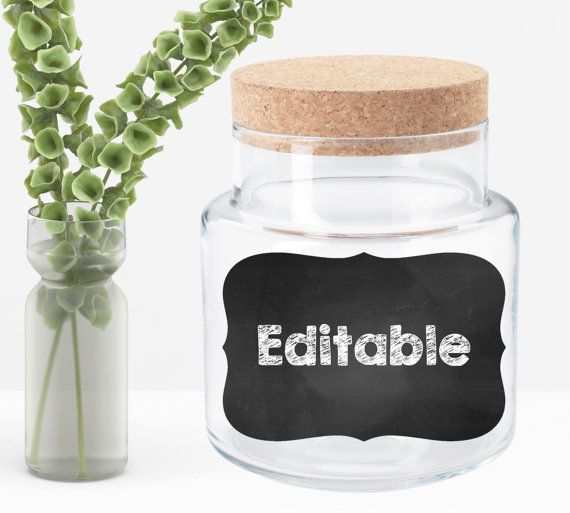 Editable Chalkboard Label Compatible with by ThreeLittleStones