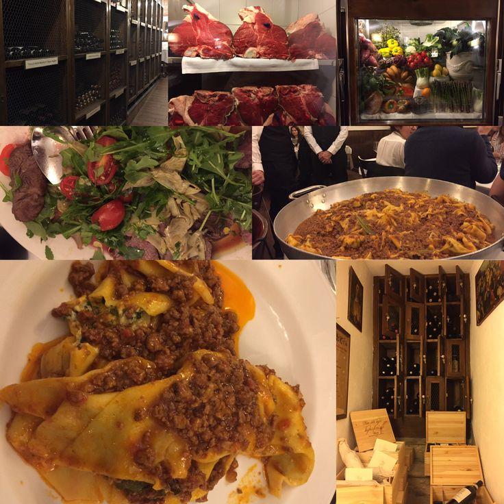Ristorante Buca Mario a Firenze : ottima cucina tradizionale, ambiente rustico (molto grande), servizio caloroso.