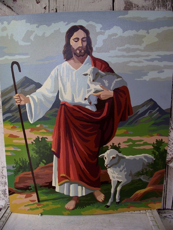 Price Reduced Vintage Paint By Number Jesus Christ The