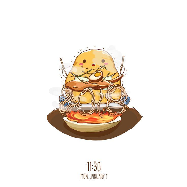 Happiness is instant noodles, not only amusing but delicious  #art #artwork #dailyart #noodle #paint #potato #delicious #hot #meat #egg #color #brush #paint #fun #hope #soup #vegetables #doodle #enjoy #happy #sketchbook #sketch #design #illustration #digitalart #digitaldrawing #drawing #draw #paint #graphicdesign #potatobart