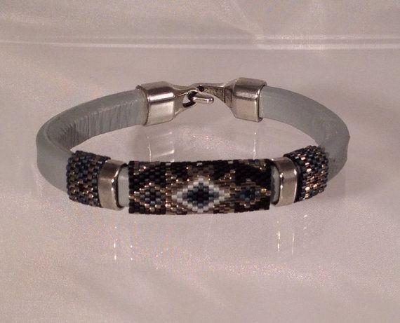 The Stargazer Licorice Leather Bracelet by Calisi on Etsy