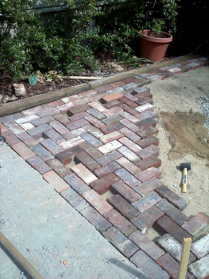 Antique Brick Patio….DONE!