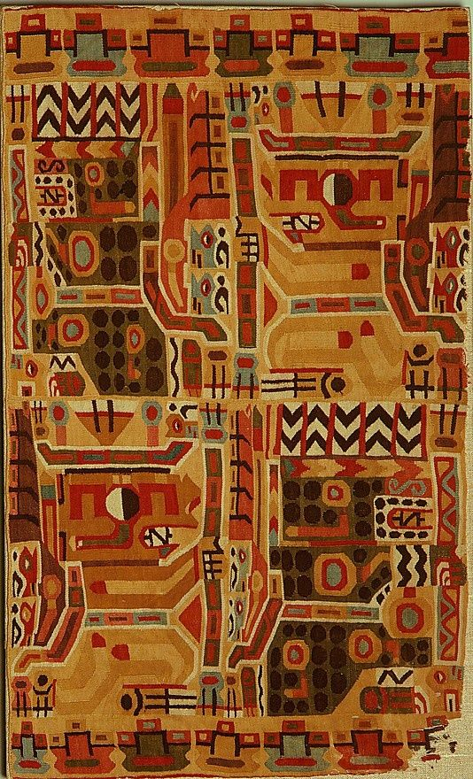 Wari, Tunic Fragment, Peru, 7th-9th century: