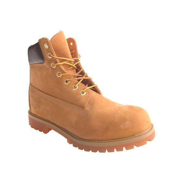 """Men's Timberland Classic 6"""" Premium Boot ($190) ❤ liked on Polyvore featuring men's fashion, men's shoes, men's boots, men's work boots, brown, casual, suede shoes, mens brown work boots, timberland mens work boots and timberland mens boots"""