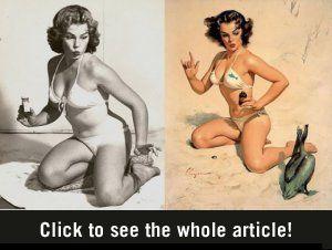 Photoshop in 1950   Dacht je dat Photoshop een fenomeen uit de twintigste eeuw was? Think again. Deze pin-up modellen uit de jaren vijftig sierden menige jongensslaapkamer, maar niet voordat ze flink gephotoshopped waren.