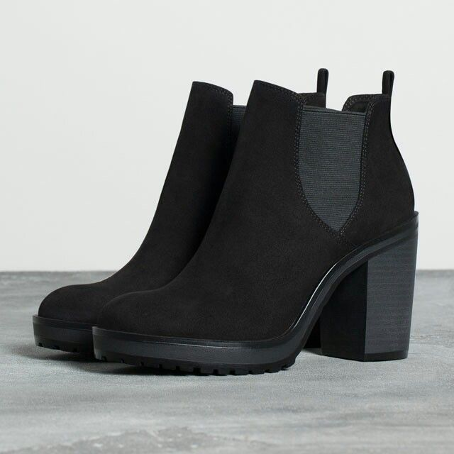 0bd1514cc4b elastic heeled ankle boot - null - Bershka Bosnia and Herzegovina