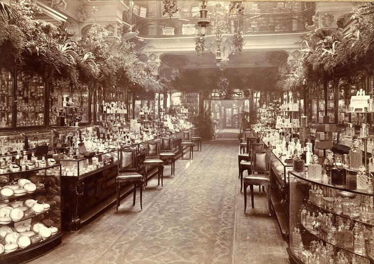 The Perfumery Salon at Harrods department store, London, England, 1903