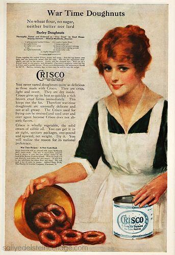 Vintage Crisco Shortening Ad - 1918