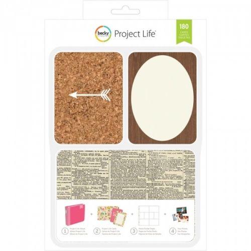PROJECT LIFE - KIT 380343 - BECKY HIGGENS - DIY SHOP Project Life kit inneholder 180 kort totalt.Du får 60 stk 4x6 kort, 30 title cards 6 designs, 5 each 30 journaling cards 6 designs, 5 each 120 3x4 cards: 30 designs, 4 each.De lar deg dokumentere viktige hendelser, ferier, eller rett og slett livet, på en enkel og spennende måte. Du trenger en album, plastlommer med inndeling, en penn og diverse kort. AMERICAN CRAFTS-Project Life ...