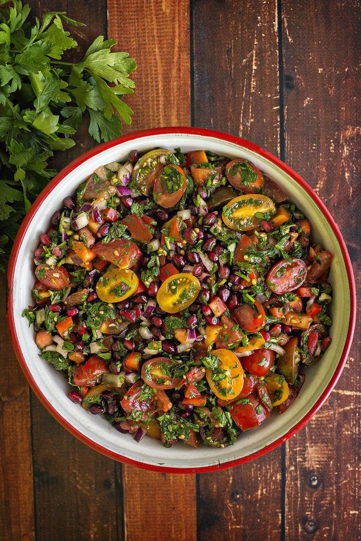 Letnia sałatka pomidorowa - A nóż w buraku