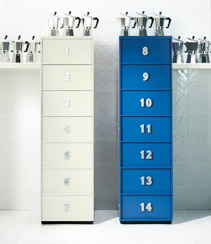 TOOLBOX, contenitore componibile // TOOLBOX modular container #numbers #drawers #blue #white #cassetti #bianco