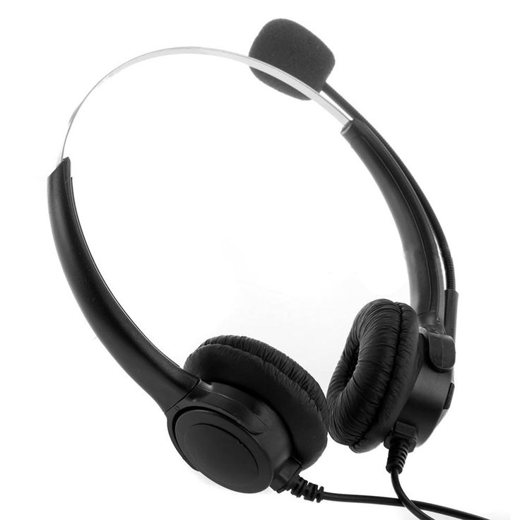 new 4-Pin Call Center Corded Operator Telephone Headset High Quality Headphones with Microphone