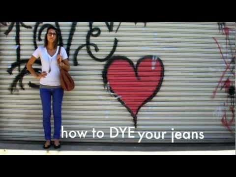 #How to dye your jeans with Tulip Liquid Dye from @ILoveto Create