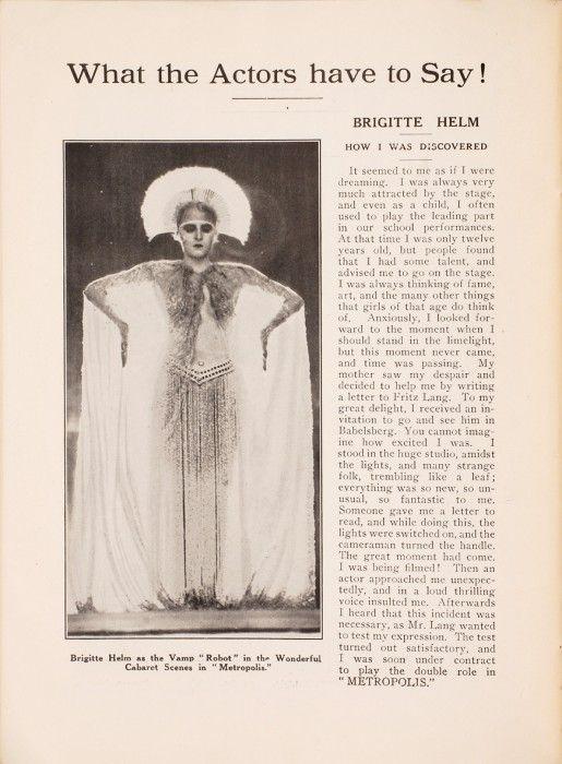 Metropolis Fritz Lang Libretto presentazione8