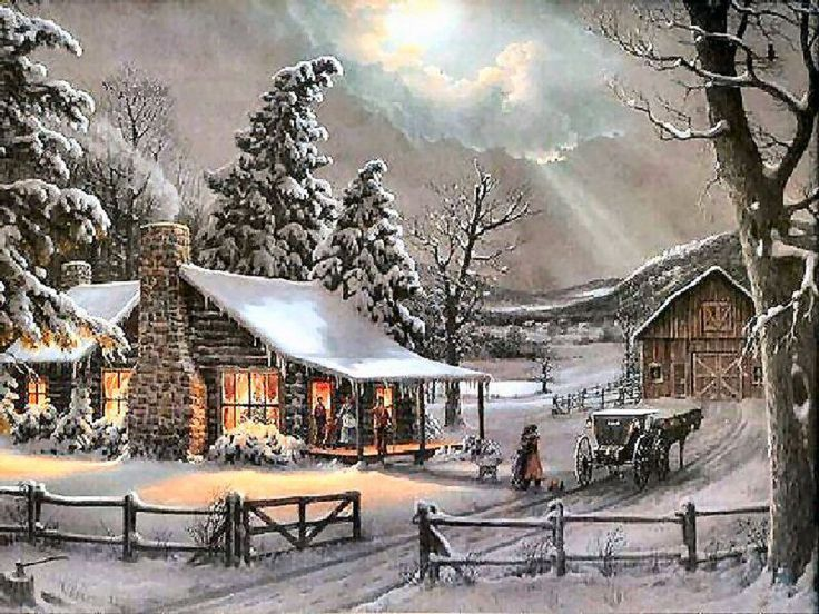 A Cabin in Winter, yes!❤