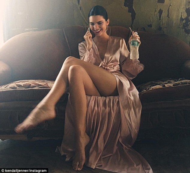 Sitting pretty: Kendall Jenner is seeing two different men, according to UsWeekly; here the model is seen in an Instagram snap she shard on Wednesday