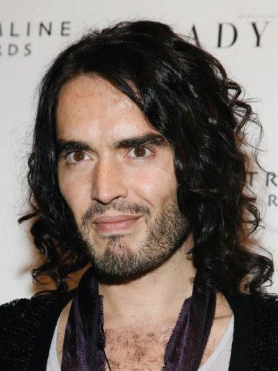 Russell Brand with Long Hair
