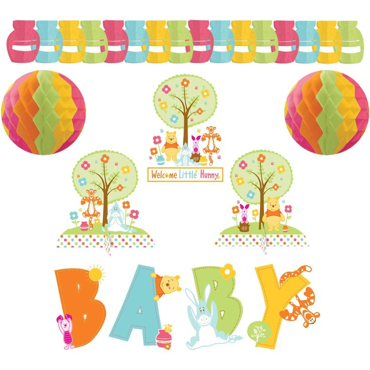 Amazon.com: Winnie The Pooh Baby Shower Room Decorating Kit: Toys U0026 Games