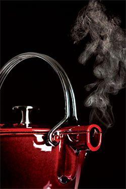 Staub one-quart enameled cast-iron kettle. $120.