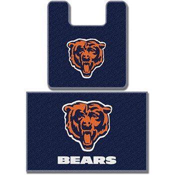 Nfl Chicago Bears Bathroom Mat Rug Set Nfl Chicago Bears