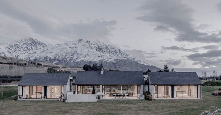 Lower Shotover House by Dravitzki Brown Architecture. A recently subdivided farm on Lower Shotover Road has provided a number of flat...more