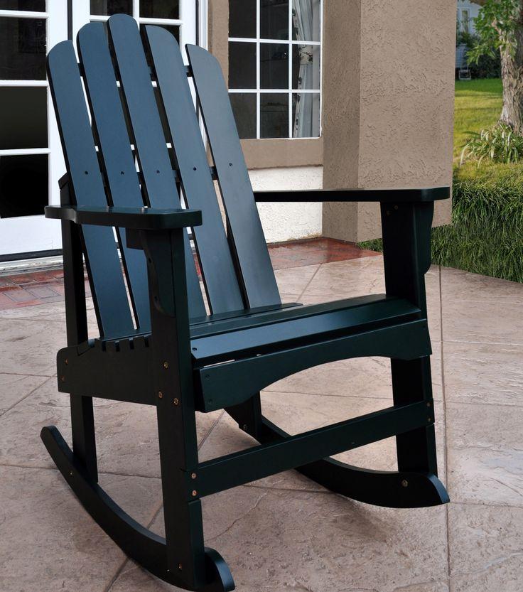 Marina Solid Wood Rocking Adirondack Chair 7