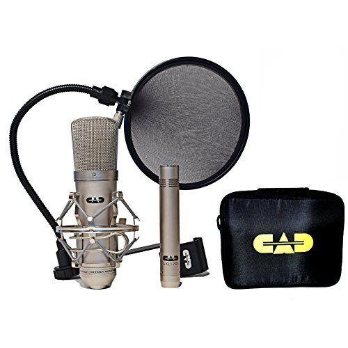 Home Recording Studio Bundle CAD GXL2200SP MH110 Stand Focusrite Scarlett 2i2 (2nd GEN) Samson Media ONE BT3 Speakers