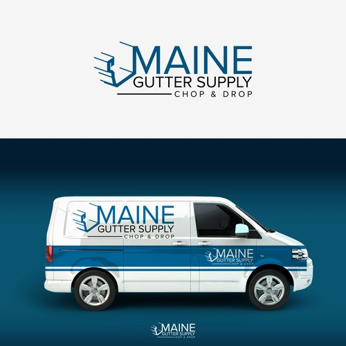 Maine Gutter Supply - Maine Seamless Gutter Chop & Drop Company needs logo
