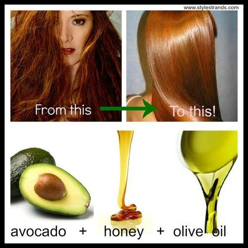 1/2 avocado, 1tbsp honey + 1 tbsp olive oil. Use every 2 weeks and let sit in hair for 30 mins before washing.