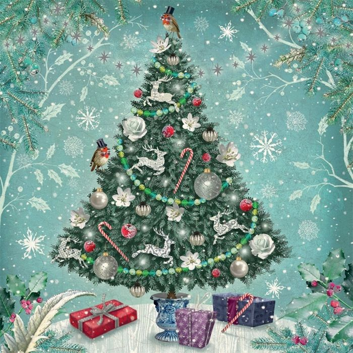 show details for christmas tree christmas cards pack of 10 - Christmas Tree Shop Online